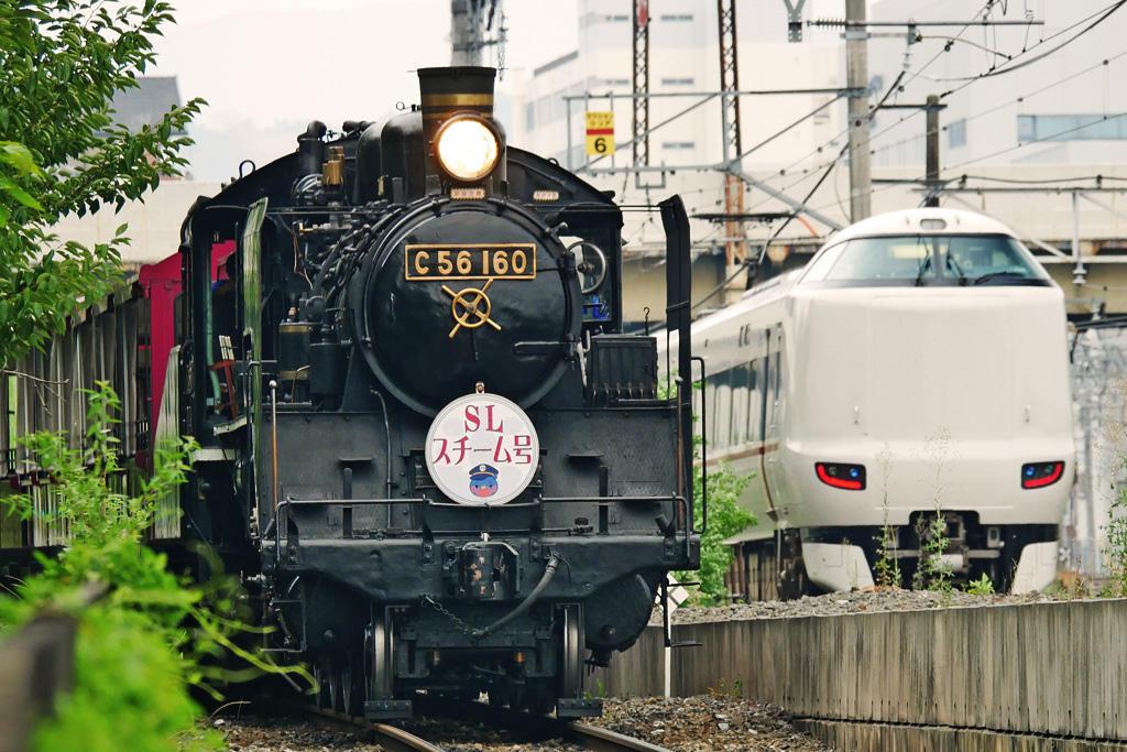 京都の蒸気機関車の写真素材