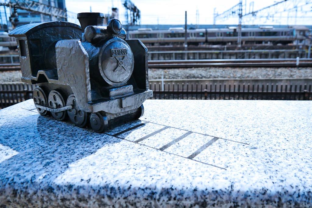 京都の蒸気機関車のオブジェの写真素材