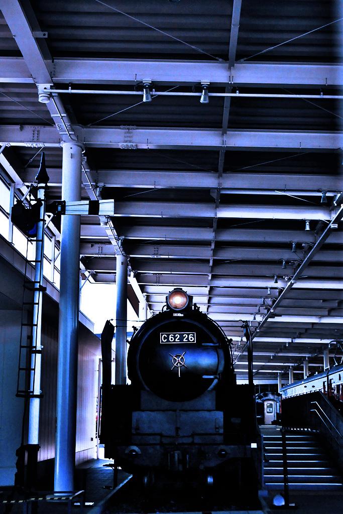 蒸気機関車C62 26の写真素材