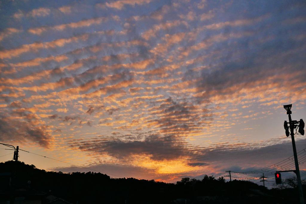 夕暮れの空の写真素材