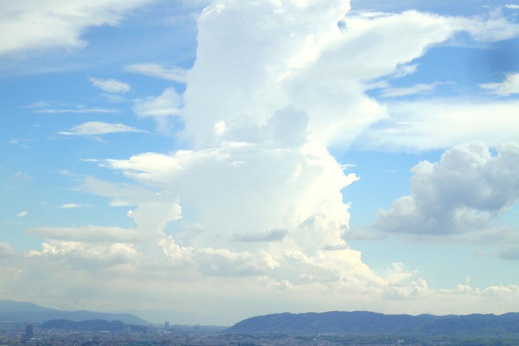 空・青空の写真素材