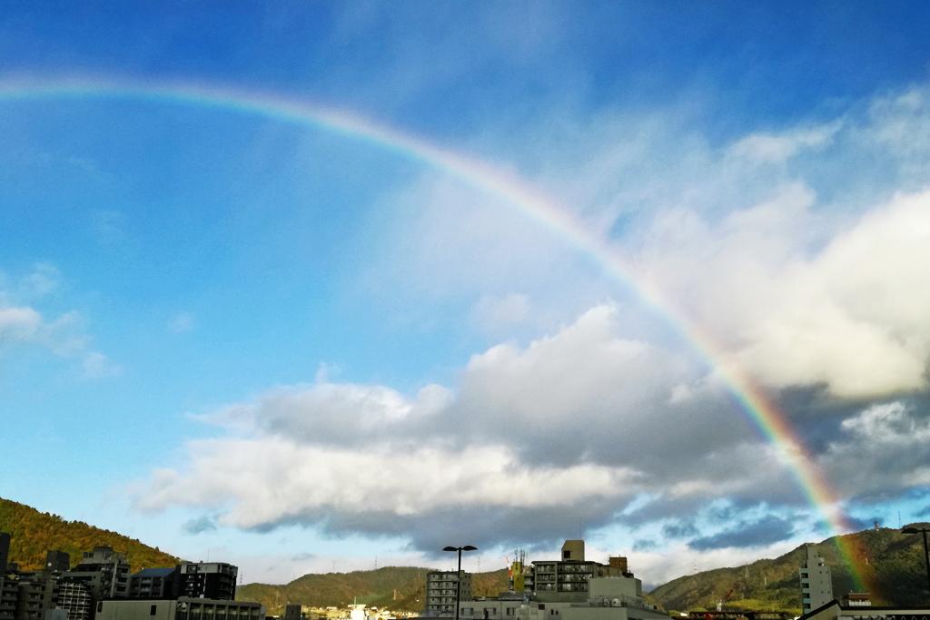 空・虹の写真素材