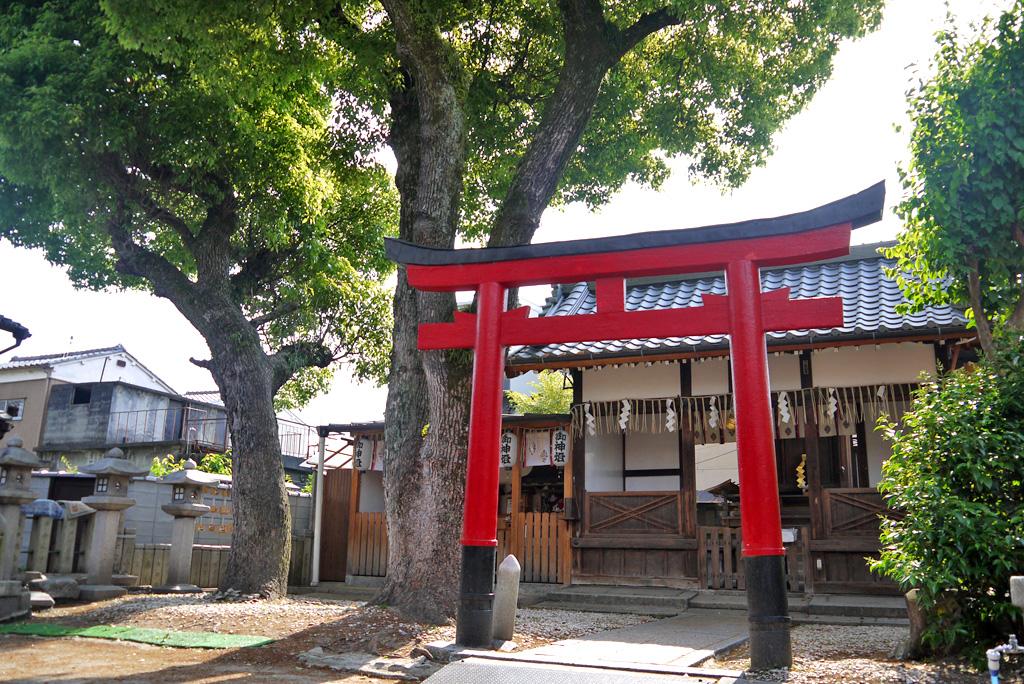 住吉神社 五条大宮の写真素材