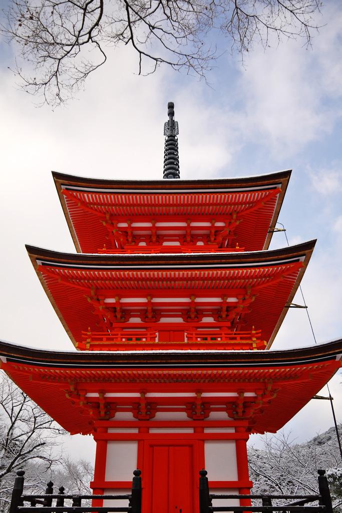 清水寺 泰産寺(子安の塔)の写真素材