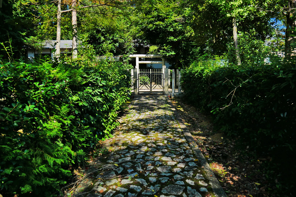 高倉神社 以仁王の墓の写真素材