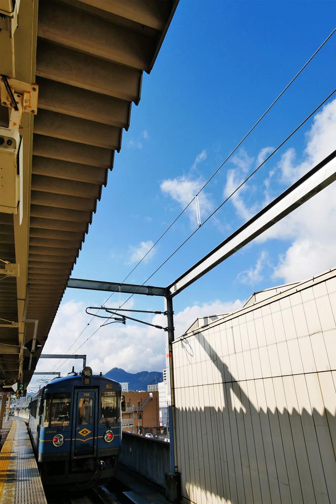 あおまつ 京都丹後鉄道 福知山駅の写真素材