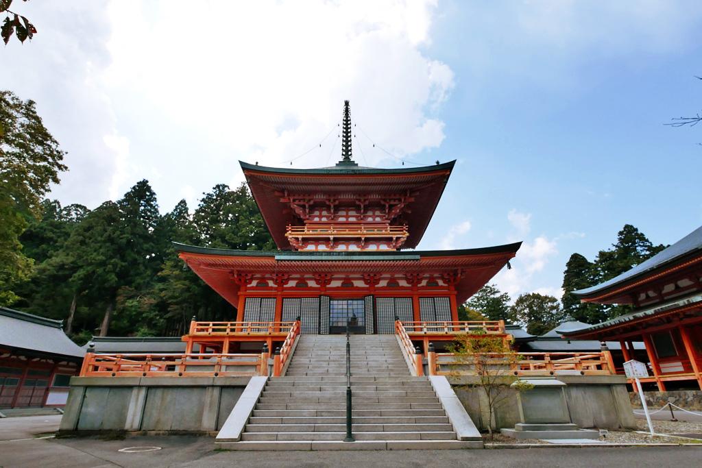比叡山延暦寺 東塔の写真素材