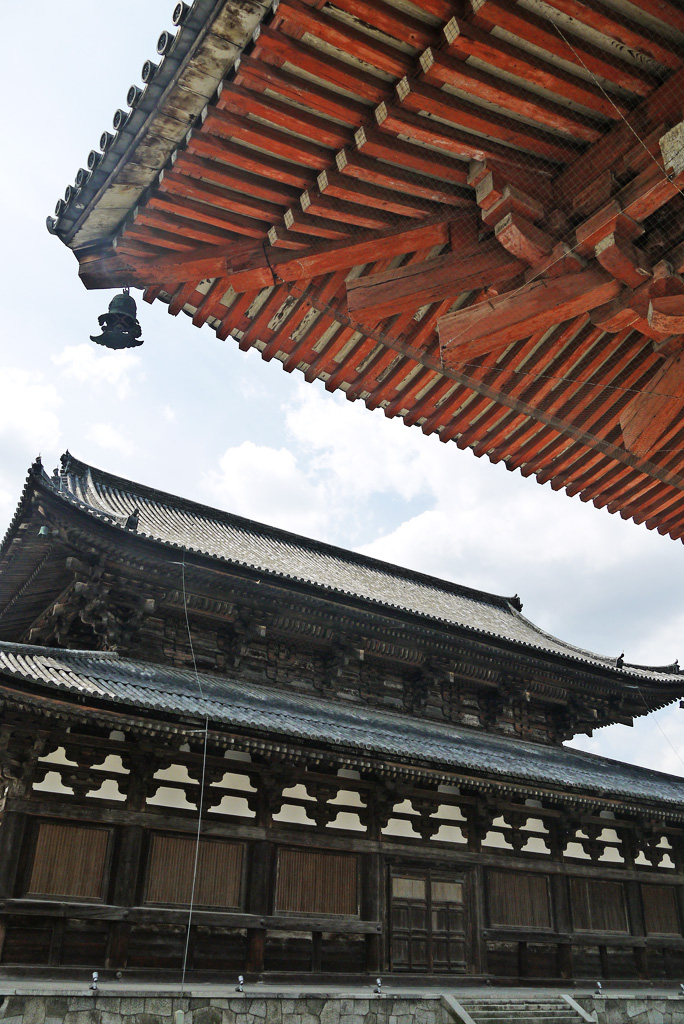 東寺の金堂と講堂の写真素材