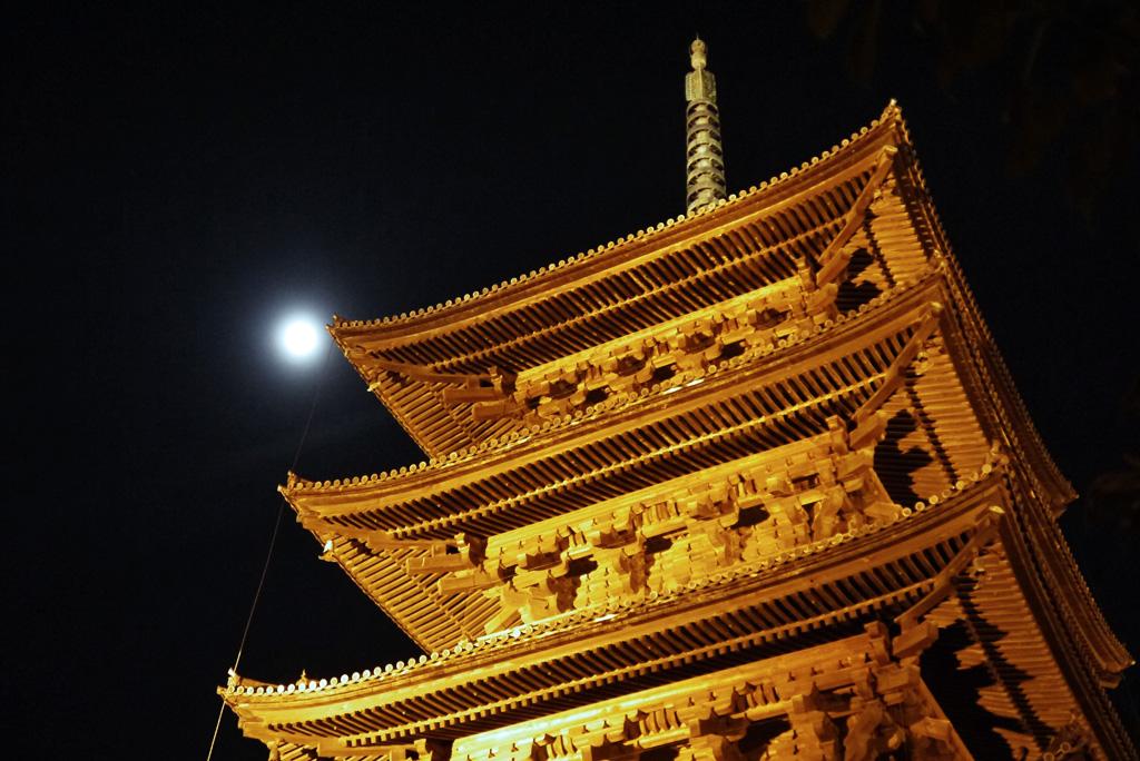 東寺の五重塔の写真素材