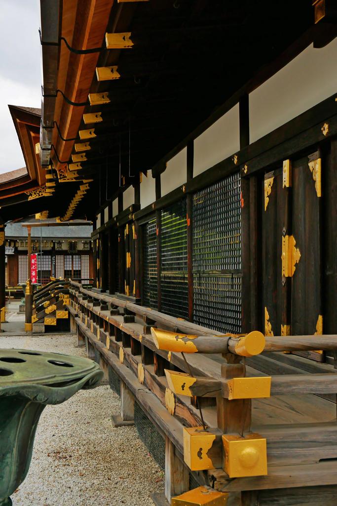 東寺の大師堂の写真素材