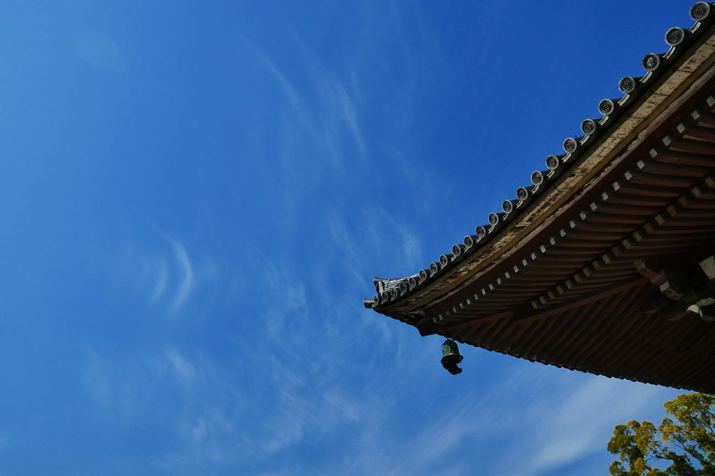 東寺と空 写真素材