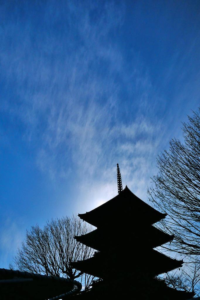 東寺の五重塔 写真素材