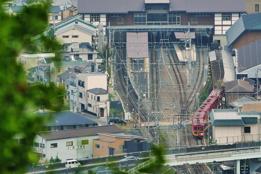 トロッコ嵯峨駅 嵯峨野トロッコ列車の写真素材