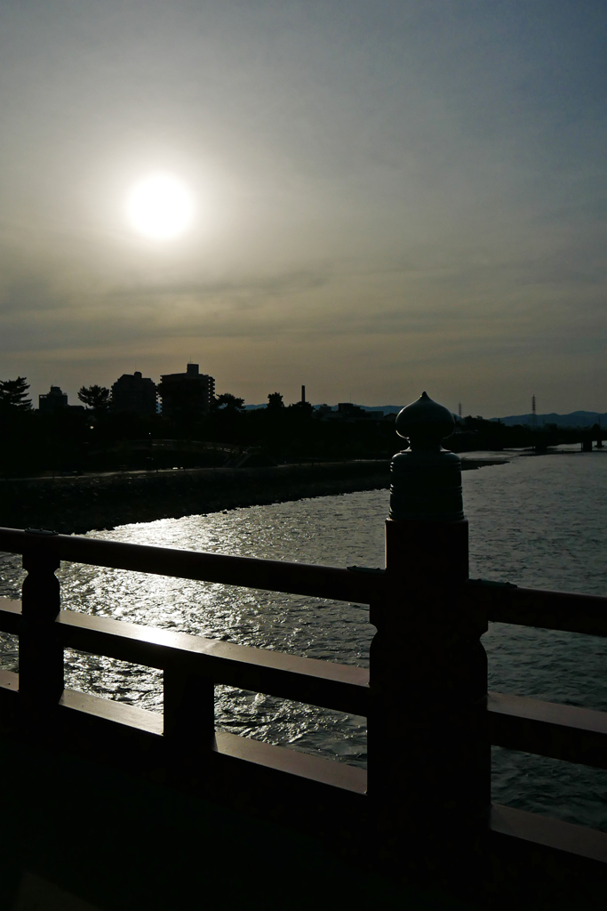 宇治川 宇治橋の写真素材
