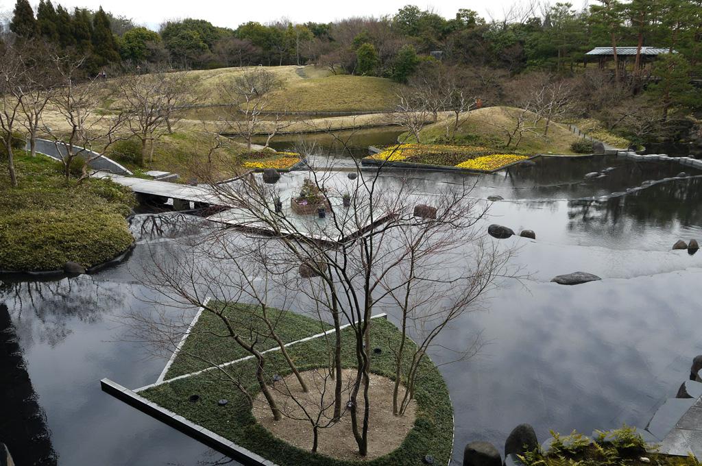 梅小路公園の朱雀の庭 冬