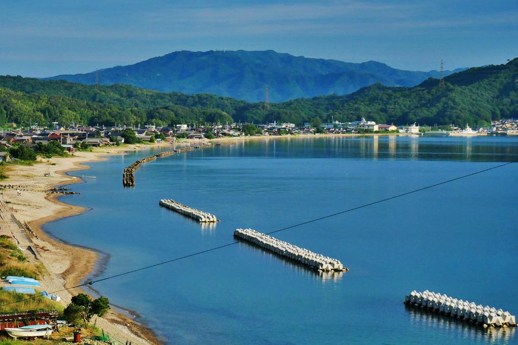 栗田湾の海の写真素材
