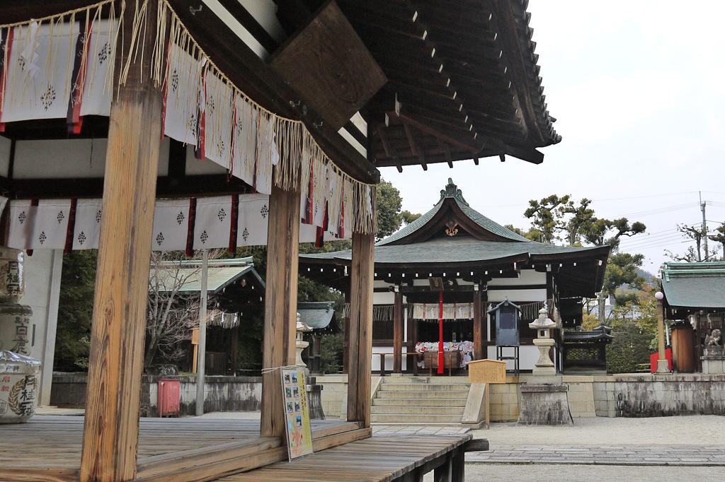 敷地神社(わら天神)の写真素材