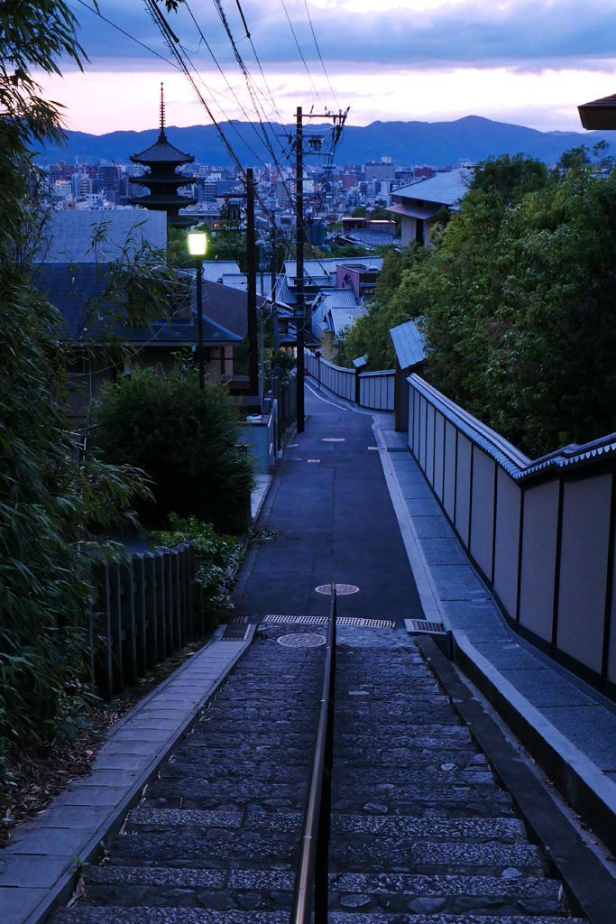 京都の龍馬坂の写真素材