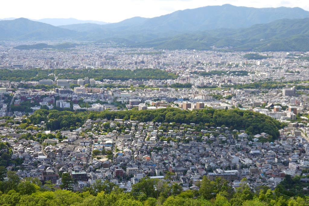 大文字山から見る吉田山