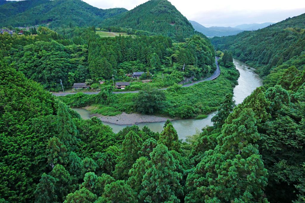 由良川 京都丹後鉄道の写真素材