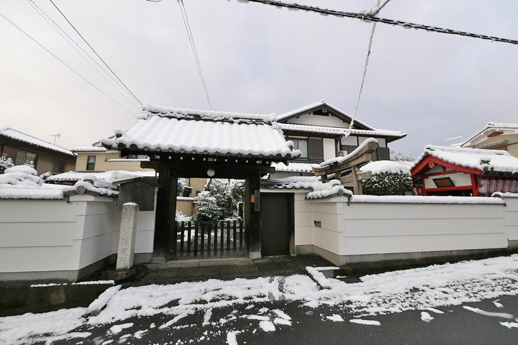 瑞光院の雪の写真素材