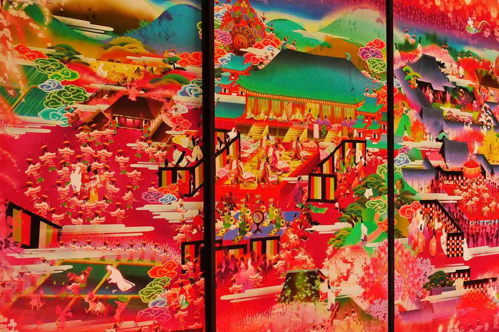随心院の襖絵の写真素材